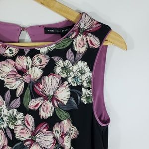 White House Black Market / Floral Sheath Dress